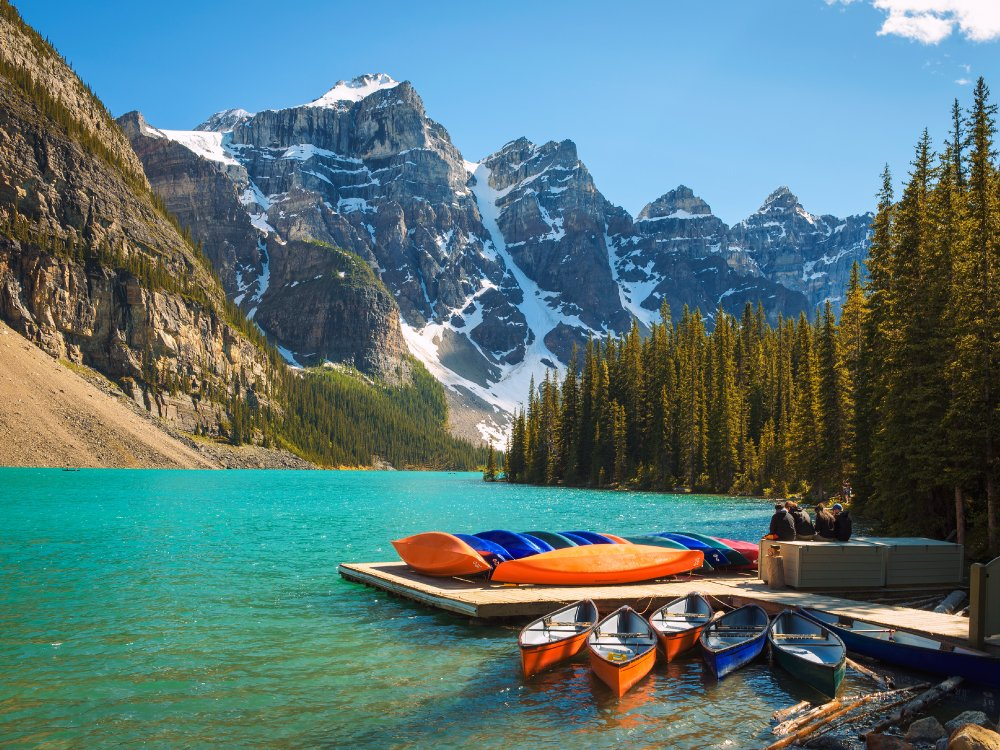 Moraine Lake in Banff Canada